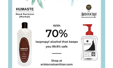 Jagatjit launches Aristocrat hand sanitizer